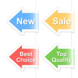 Arrow shopping labels Royalty Free Stock Photo