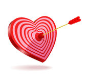 The arrow shot through his heart. Royalty Free Stock Photography