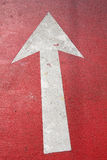 Arrow sign as road markings Royalty Free Stock Photography