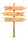 Arrow sign board made out of wood Stock Photo