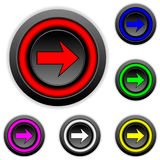 Arrow sign buttons set Royalty Free Stock Photography