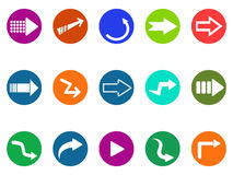 Arrow sign circle button icons set Stock Photo