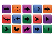 Arrow sign collection Royalty Free Stock Image