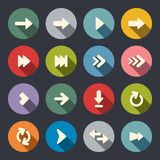 Arrow sign flat icon set Royalty Free Stock Image