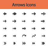 Arrow sign flat icon set. Simple internet button Stock Photos