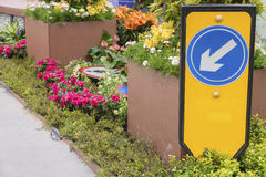 Arrow sign in Garden Stock Images