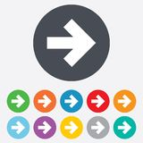 Arrow sign icon. Next button. Navigation symbol Royalty Free Stock Photography