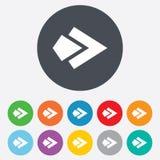 Arrow sign icon. Next button. Navigation symbol Stock Photo
