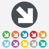 Arrow sign icon. Next button. Navigation symbol Royalty Free Stock Photos