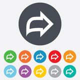 Arrow sign icon. Next button. Navigation symbol Royalty Free Stock Image