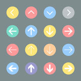 Arrow sign icon set Stock Images