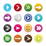 Arrow sign icon in set. Internet shape in button with arrow vector. EPS 10 Royalty Free Stock Photos