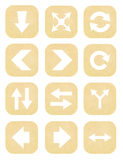 Arrow sign icon set from paper Stock Image