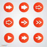 Arrow sign icon set Royalty Free Stock Photos