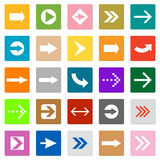 Arrow sign icon set square shape internet button Royalty Free Stock Photo
