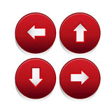 Arrow sign icon set Royalty Free Stock Images