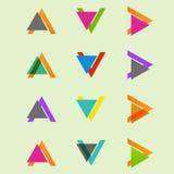 Arrow sign icon set. Vector design eps10 Royalty Free Stock Image