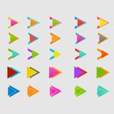 Arrow sign icon set. Vector design eps10 Royalty Free Stock Photos