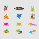 Arrow sign icon set. Vector design eps10 Stock Image