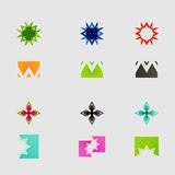 Arrow sign icon set. Vector design eps10 Stock Photography