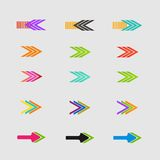 Arrow sign icon set. Vector design eps10 Royalty Free Stock Photo