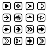 Arrow sign icon set Royalty Free Stock Image