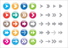 Arrow sign icon set Stock Photo