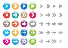 Arrow sign icon set. Vector illustration of Arrow sign icon set Stock Photo