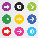Arrow sign icon set. Royalty Free Stock Photos