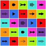Arrow sign icon vector set. Colorful arrow sign icon set royalty free illustration