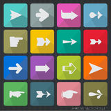 Arrow sign icon vector set. Stock Images