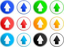 Arrow sign icons Stock Photography