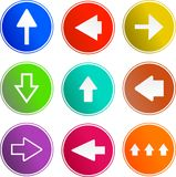 Arrow sign icons Stock Photos