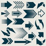 Arrow sign icons Royalty Free Stock Photography