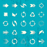 Arrow sign icons retro collection Royalty Free Stock Photo