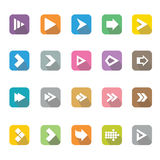 Arrow sign icons set. Stock Photo