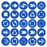 Arrow sign icons Stock Images