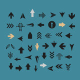 Arrow sign silhouettes collection Stock Photography