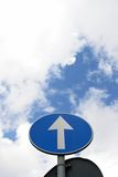 Arrow sign sky traffic Stock Image