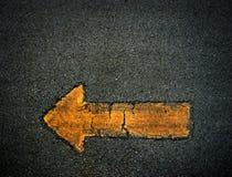 Arrow sign symbol background. Yellow texture stock photos