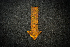 Arrow sign symbol background. Yellow texture royalty free stock image