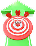 Arrow sign and target - marketing concept Stock Images