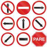 Arrow Signs In Argentina Stock Photography