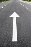 Arrow signs as road markings Stock Photos