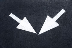 Arrow signs as road markings Royalty Free Stock Photos