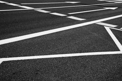 Arrow signs as road markings on a street Royalty Free Stock Photo