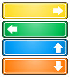 Arrow signs pointing to different directions. Isolated in white Royalty Free Stock Photography