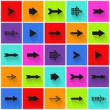 Arrow signs set. Colorful Arrow signs set royalty free illustration