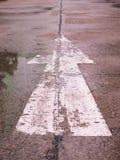 Arrow signs,Traffic sign on street.  stock photos