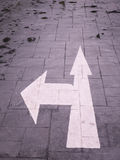 Arrow signs,Traffic sign on street.  royalty free stock images